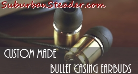 Custom Made Bullet Casing Earbuds