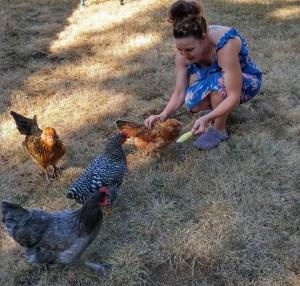 Adriane & Chickens