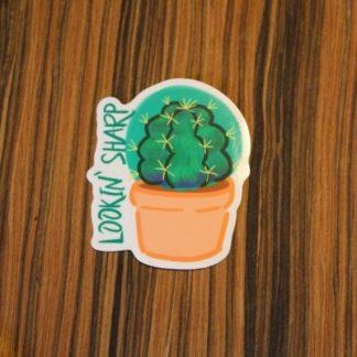 Barrel Cactus Pun Sticker
