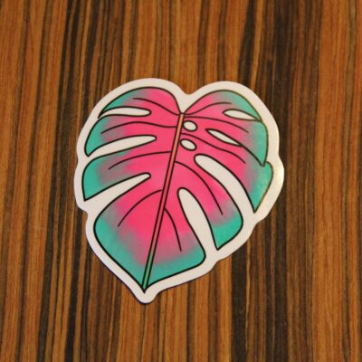 Monstera deliciosa leaf sticker