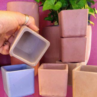 2 inch square cement pot