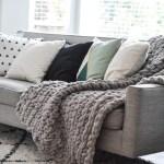 Crocheted Chunky Throw Blanket Suburble