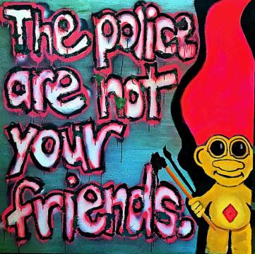 "Saatchi Art Artist Matt Denison; Painting, ""Bad Cop, No Donu"