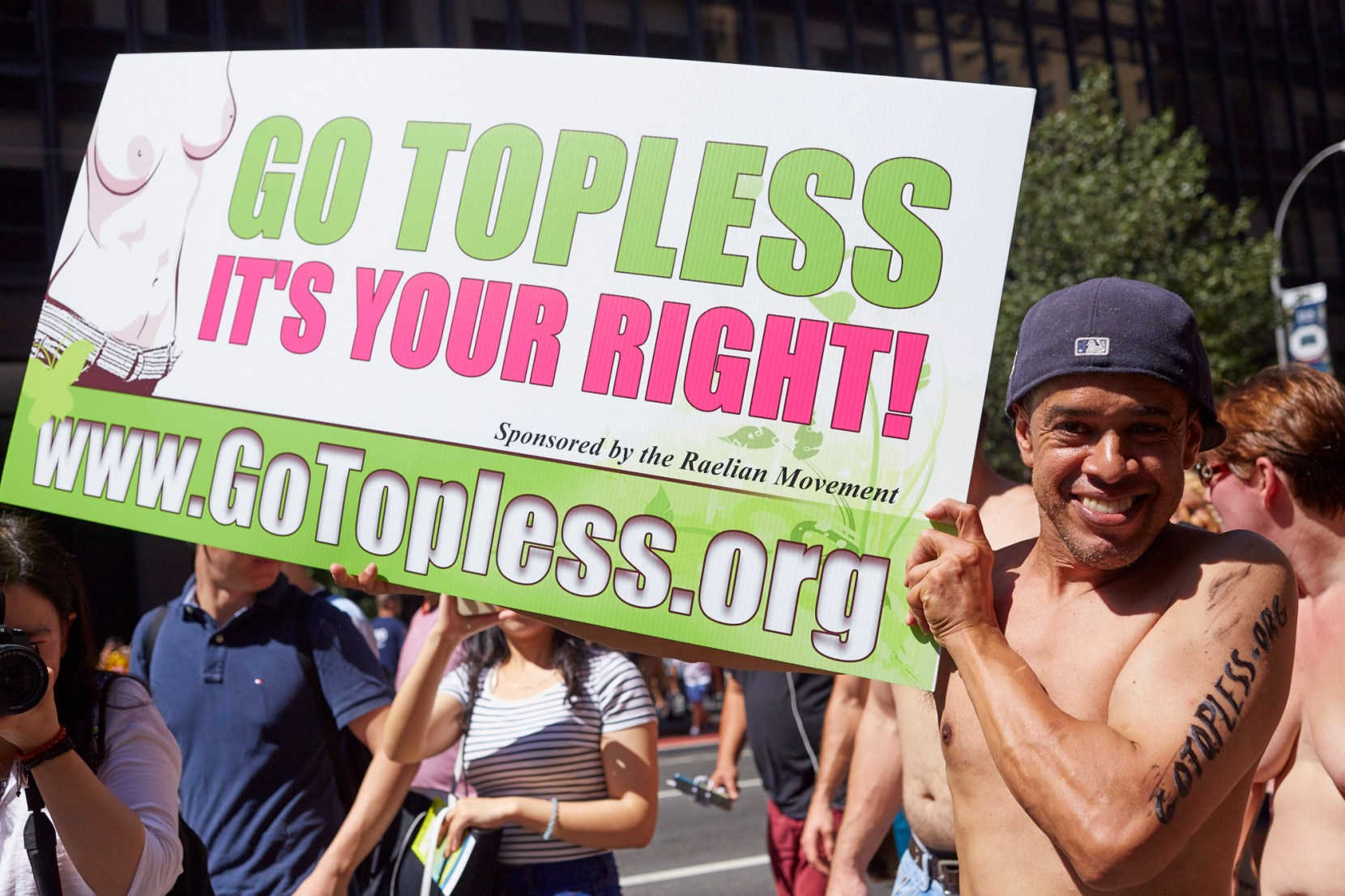 Go Topless Day NYC shot by Lucy Alcorn