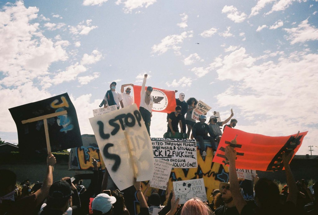 Protest on 101 Highway in San Jose, California