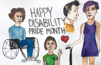 Disability pride artwork by Jude Brzozowski