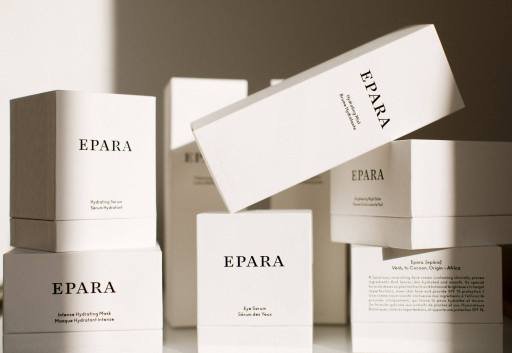 Epara skincare is sustainable and luxury beauty.
