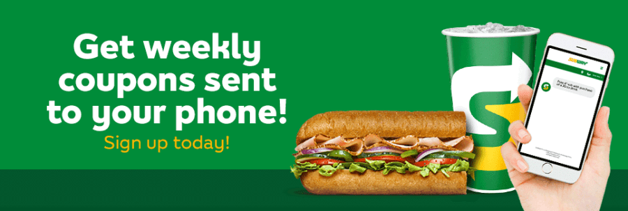 Get weekly coupons sent to your phone