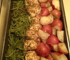 Italian Chicken Green Bean and Potato Italian Bake