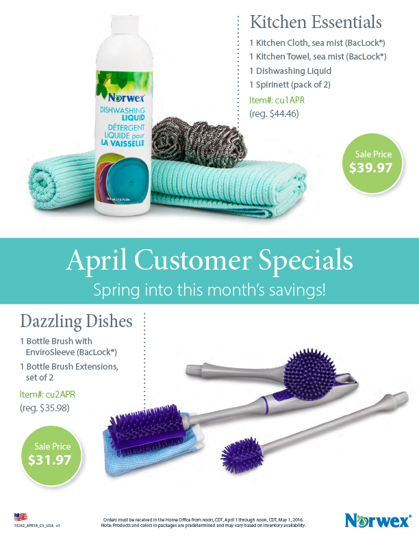 April Customer Specials