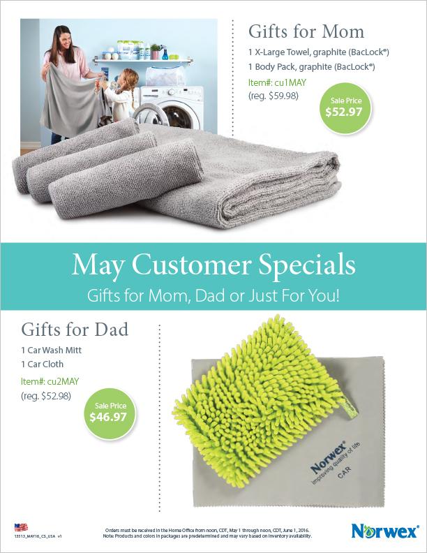 May Customer Specials