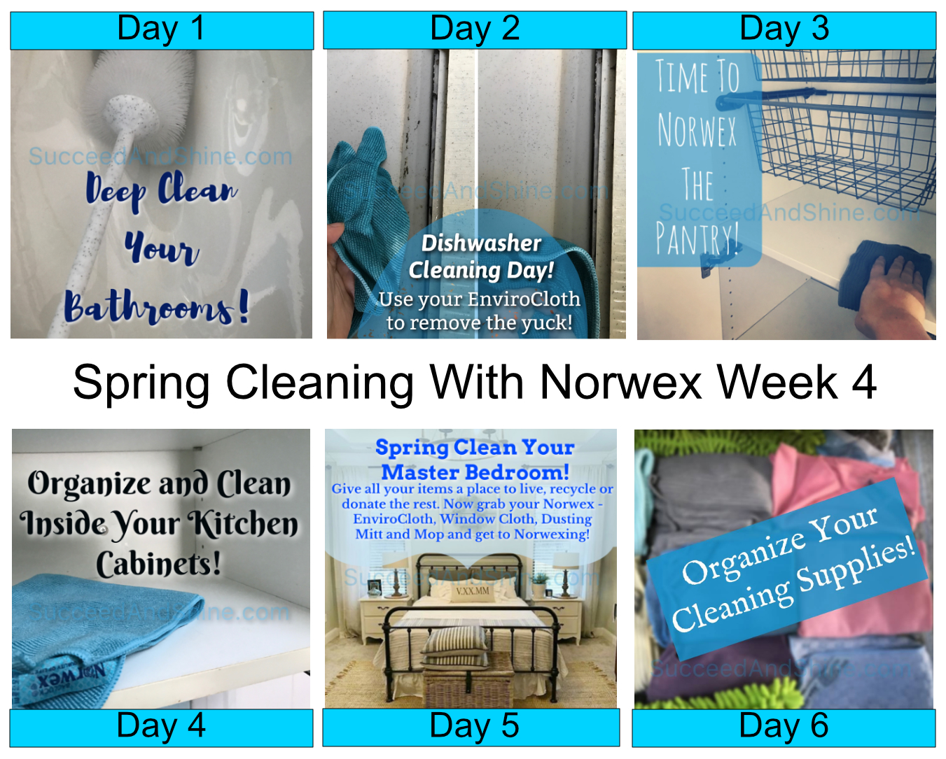 How To Use Norwex For Spring Cleaning – Week 4 – Succeed and Shine