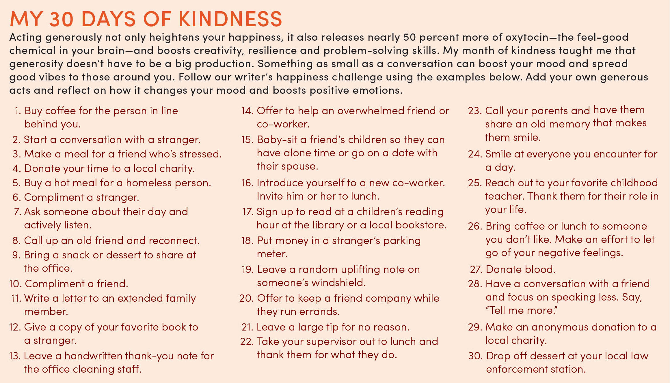 How 30 Days of Kindness Made Me a Better Person
