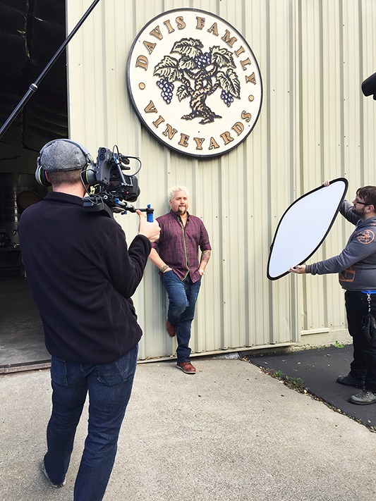 SUCCESS magazine photo shoot with Guy Fieri