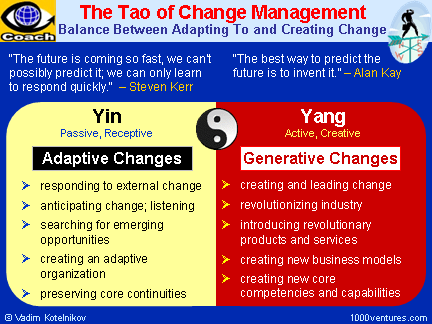 The tao of change management (Credits: V. Kotelnikov)