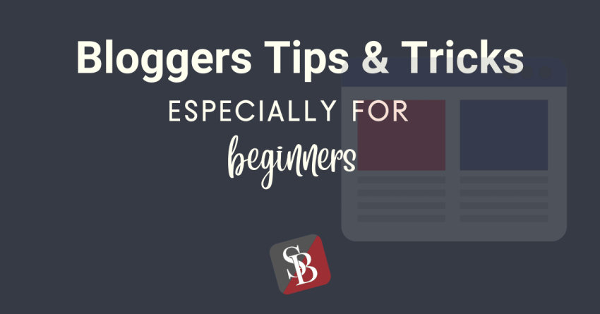 bloggers tips and tricks