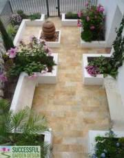 Garden Design Makeover - Californian Courtyard on a budget on Courtyard Ideas On A Budget id=98259