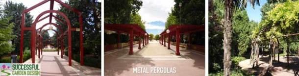Metal-pergola
