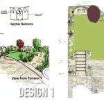 Awkward shaped garden design solutions – Case study