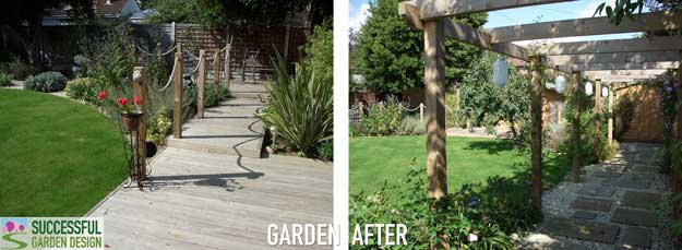 Square shape back garden case study for Square back garden designs
