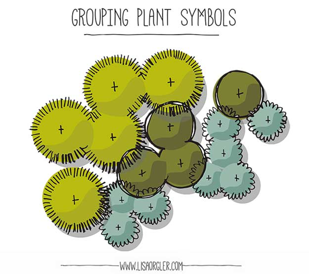 how to draw a garden design