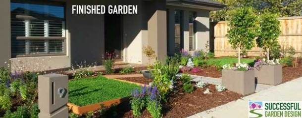 Small Front Garden – SGD Student Anne Fries, Melbourne