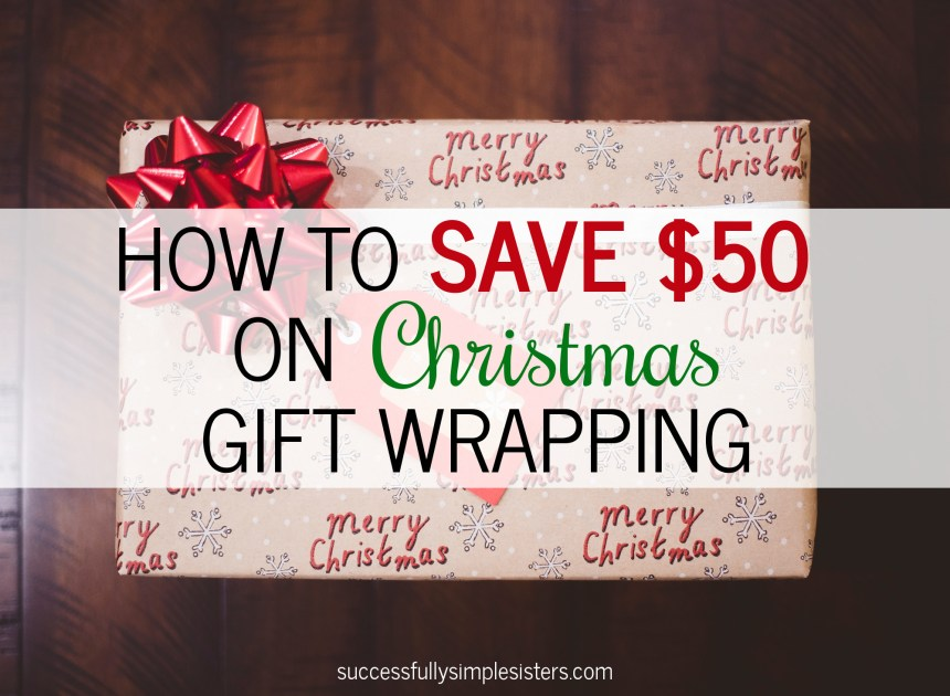 Looking to save money this Christmas? Read how you can save $50+ this year on Christmas gift wrapping supplies!