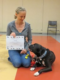 Scout was the first to earn his MA!  Yay Scout!