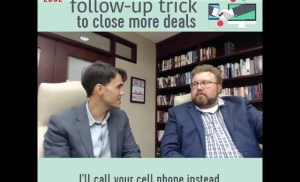 Try this simple follow up trick to close more deals