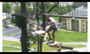 Daddy & Isa – Zip-Lining and Rope-Course Thingy :)