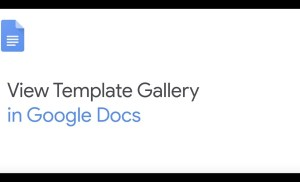 How To: Access Template Gallery in Google Docs