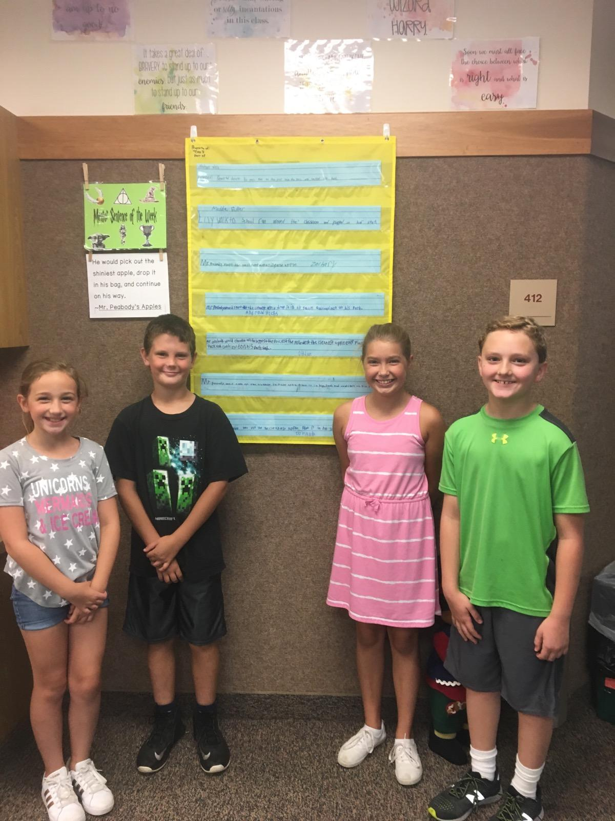 Mentor Sentence Classroom Activities Build Skills