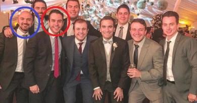 El hijo de Giammattei en una fiesta junto con su socio de corrupcíon