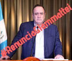 Guatemalatecos solicitan la renuncia de Alejandro Giammattei Falla