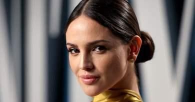 La hermosa cantante y actriz mexicana Eiza González, en la foto solo sale su bello rostro y parte de una blusa amarilla