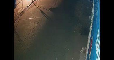 parte de una escena de un vídeo donde aparece un alma en pena en Jutiapa, Guatemala