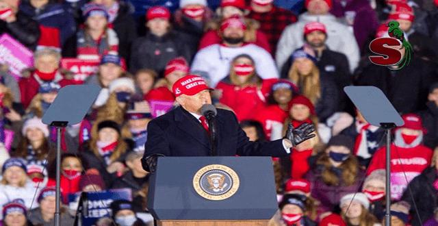 Presidente de Estados Unidos Donald J. Trump en un mitin político