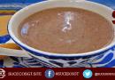 Tasa de atol de arroz con chocolate, bebida tipica de Guatemala