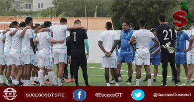 selección nacional de Guatemala entrenando