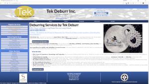 tek deburr website by sucoweb
