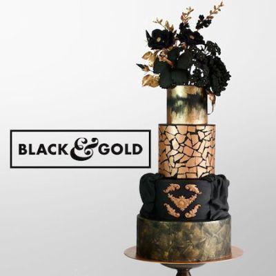 Curso de tartas de boda black & gold