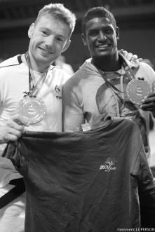 Axel Clerget et Pape-Doudou Ndiaye au Grand Slam de Paris 2017 -Crédit : Emmeric Le Person
