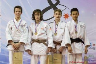 Demi finale cadets Paris - Podium M -46 kg