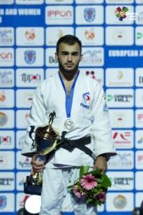 Luka Mkheidze à l'open européen de Minsk 2018 / Crédit : European Judo Union - Anna Zelonija