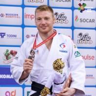 Axel Clerget aux championnats du Monde de Bakou 2018 / Crédit : EJU
