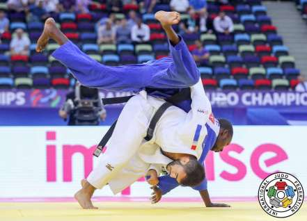 Luka Mkheidze aux championnats du Monde de Bakou 2018 / Crédit : IJF