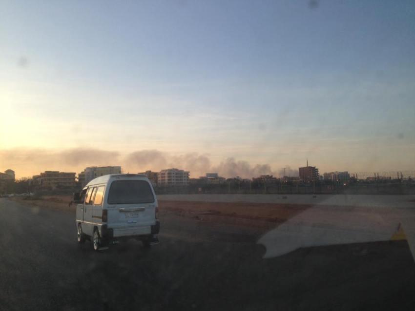 حريق مصنع امدرمان
