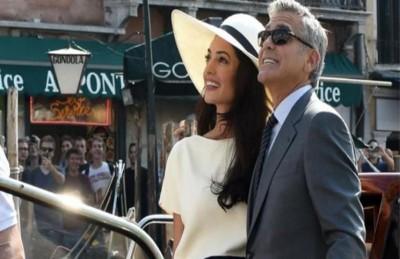 جورج كلوني يفاجئ زوجته امل اللبنانية ويشتري لها مطعم سوشي في عيد زواجهما