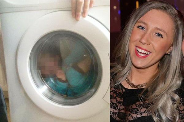 بالصّور: أم تضع طفلها في الغسّالة لتتسلّى