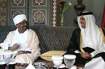 البشير وأمير قطر يبحثان تطورات الأوضاع بالمنطقة